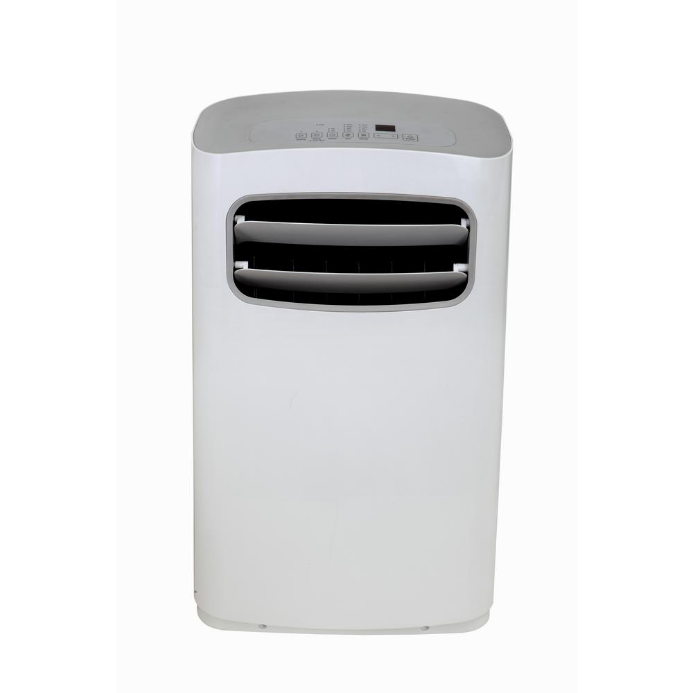 Impecca 14,000 BTU Portable Air Conditioner with Dehumidifier and Remote in White/Gray Unlike most other portable Air Conditioners, this unit has a stylish, modern design. Includes great features such as a Deluxe Remote control with large LED display. There is no need to strain your eyes to view the temperature settings on your unit. The  Personal Mapping Temperature Sensor  will sense the temperature from where the remote control is located. The Air conditioner will continue to cool until your desired temperature has reached the area (in the room) where the remote control is located.