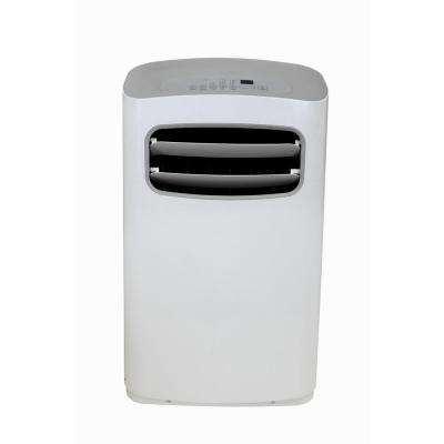 14,000 BTU Portable Air Conditioner with Dehumidifier and Remote in White/Gray