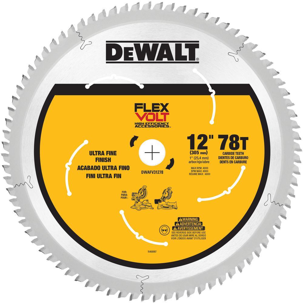 FLEXVOLT 12 in. 78-Teeth Carbide-Tipped Miter Saw Blade