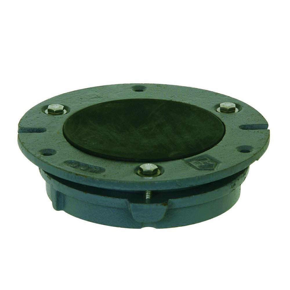 Sioux chief in cast iron toilet flange i the