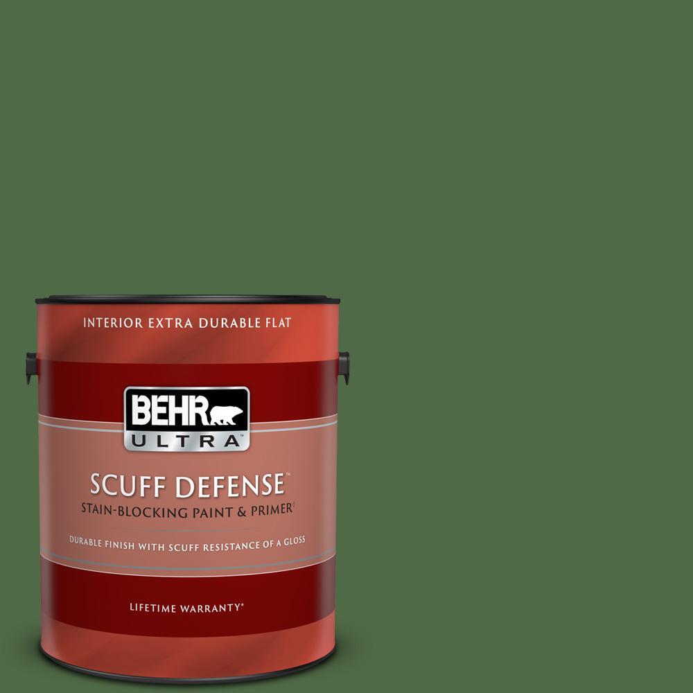 Behr Ultra 1 Gal M400 7 Garden Cucumber Extra Durable Flat Interior Paint Primer 172301 The Home Depot