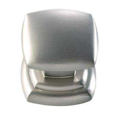 1-1/4 In. Euro-Contemporary Stainless Steel Cabinet Knob