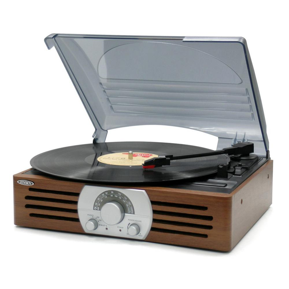 Jenson 3-Speed Turntable With AM/FM