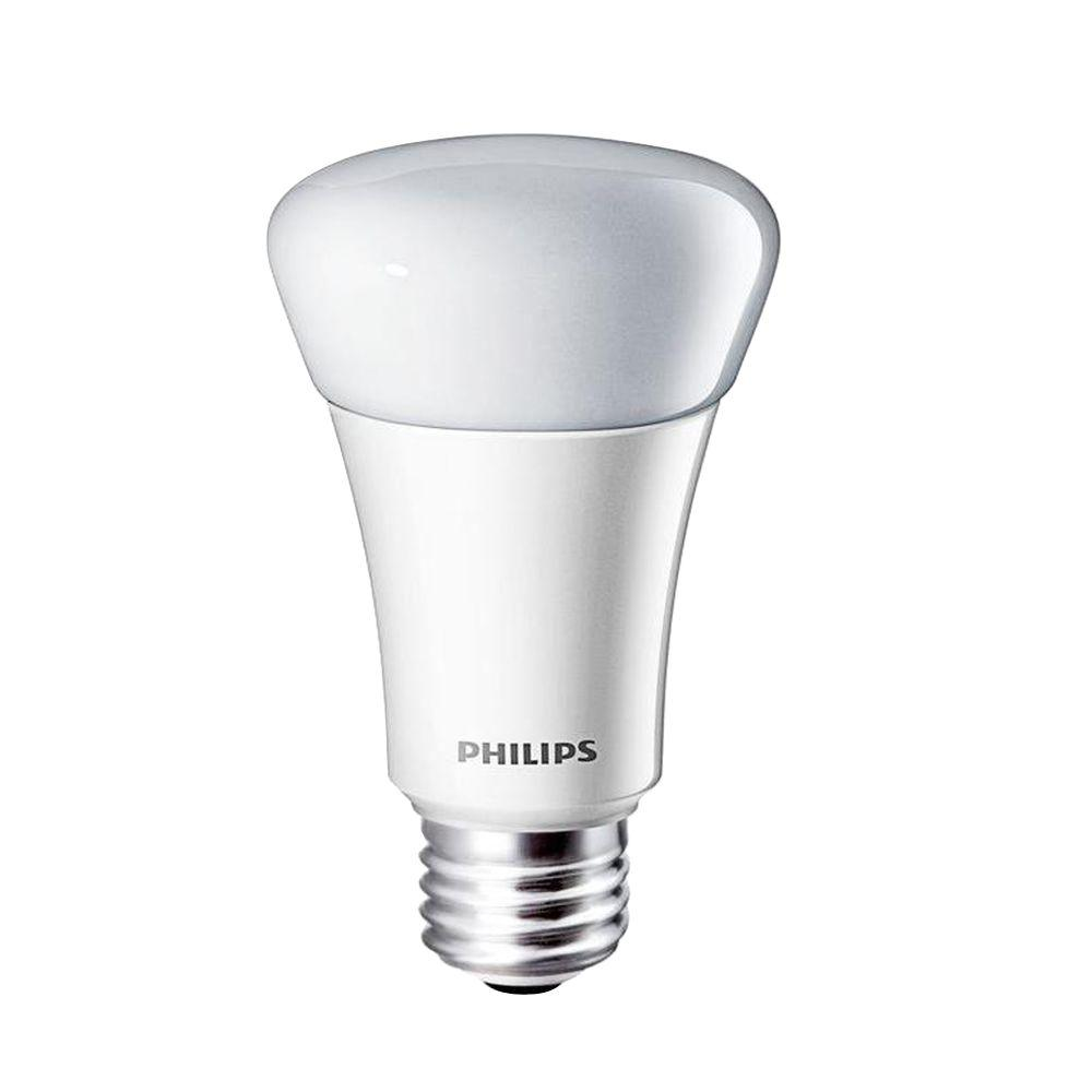 Philips 60W Equivalent Soft White (2700K) A19 Dimmable LED Light Bulbs (E*) (4-Pack)