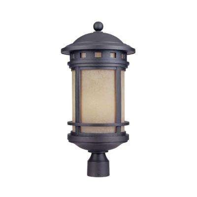 Mesa 3-Light Oil Rubbed Bronze Outdoor Post Lantern