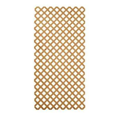 4 ft. x 8 ft. Southern Yellow Pine Weather Shield Cedar Tone Pressure Treated Garden Wood Lattice