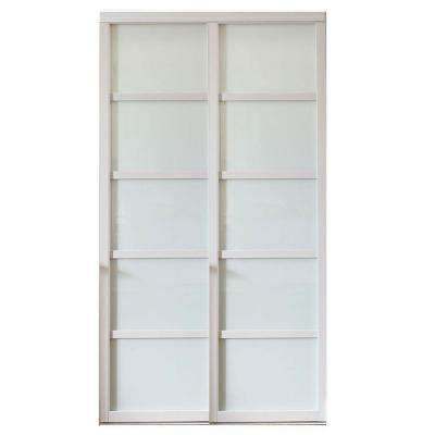Tranquility Glass Panels Back Painted Wood Frame Interior Sliding Door
