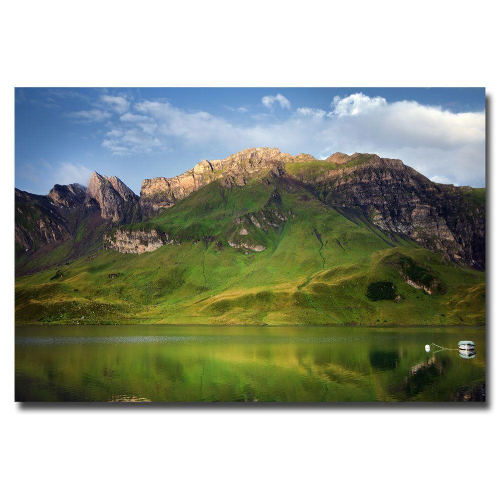 16 in. x 24 in. Green Mirror Canvas Art