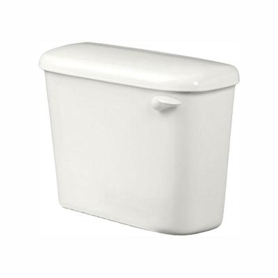 Colony 1.28 GPF Single Flush Toilet Tank Only for 10 in. Rough in White with Right-Hand Trip Lever