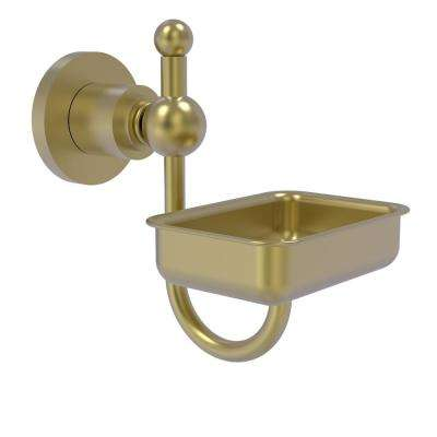 Astor Place Wall Mounted Soap Dish in Satin Brass