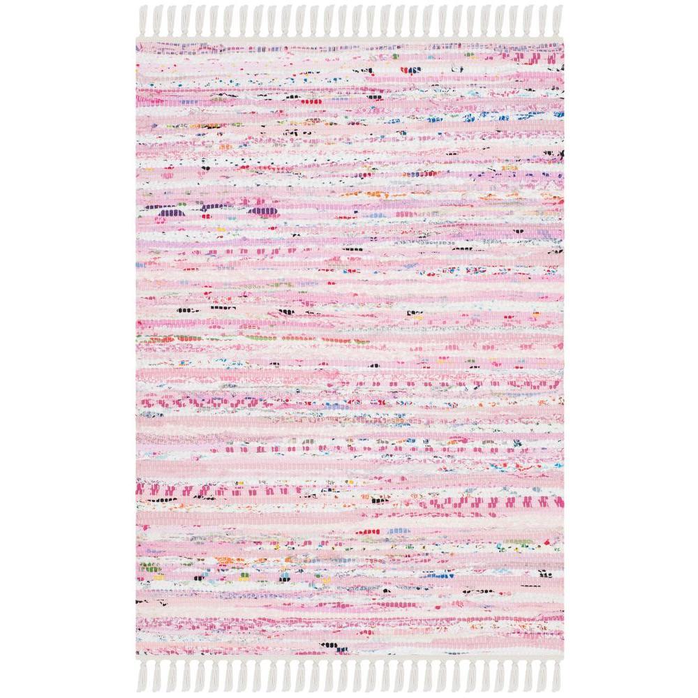 safavieh rag rug light pinkmulti 2 ft 6 in x 4 ft