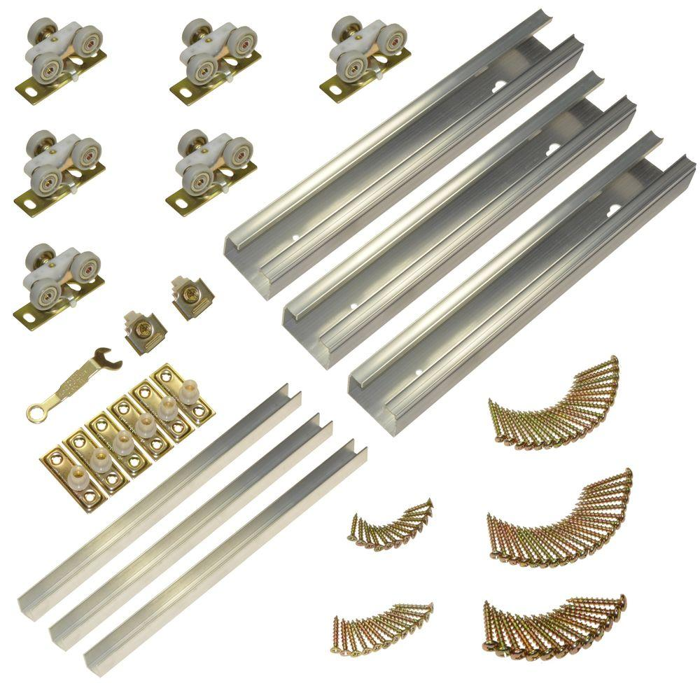 100MD Series 70 in. Track and Hardware Set for 3-Door Multi-Slide