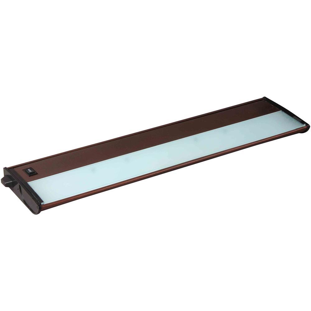 Maxim Lighting CounterMax MX-X12 21 in. 3-Light 12-Volt Xenon Add-On Under Cabinet Light, Bronze