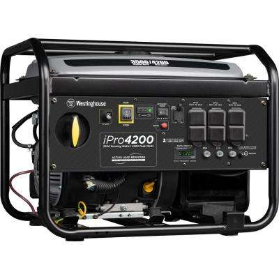 iPro4200 4,200/3,500 Watt Gas Powered Portable Industrial Inverter Generator with OSHA Compliant GFCI Protection