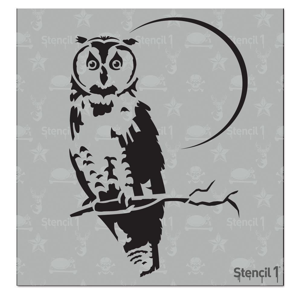 Owl Small Stencil