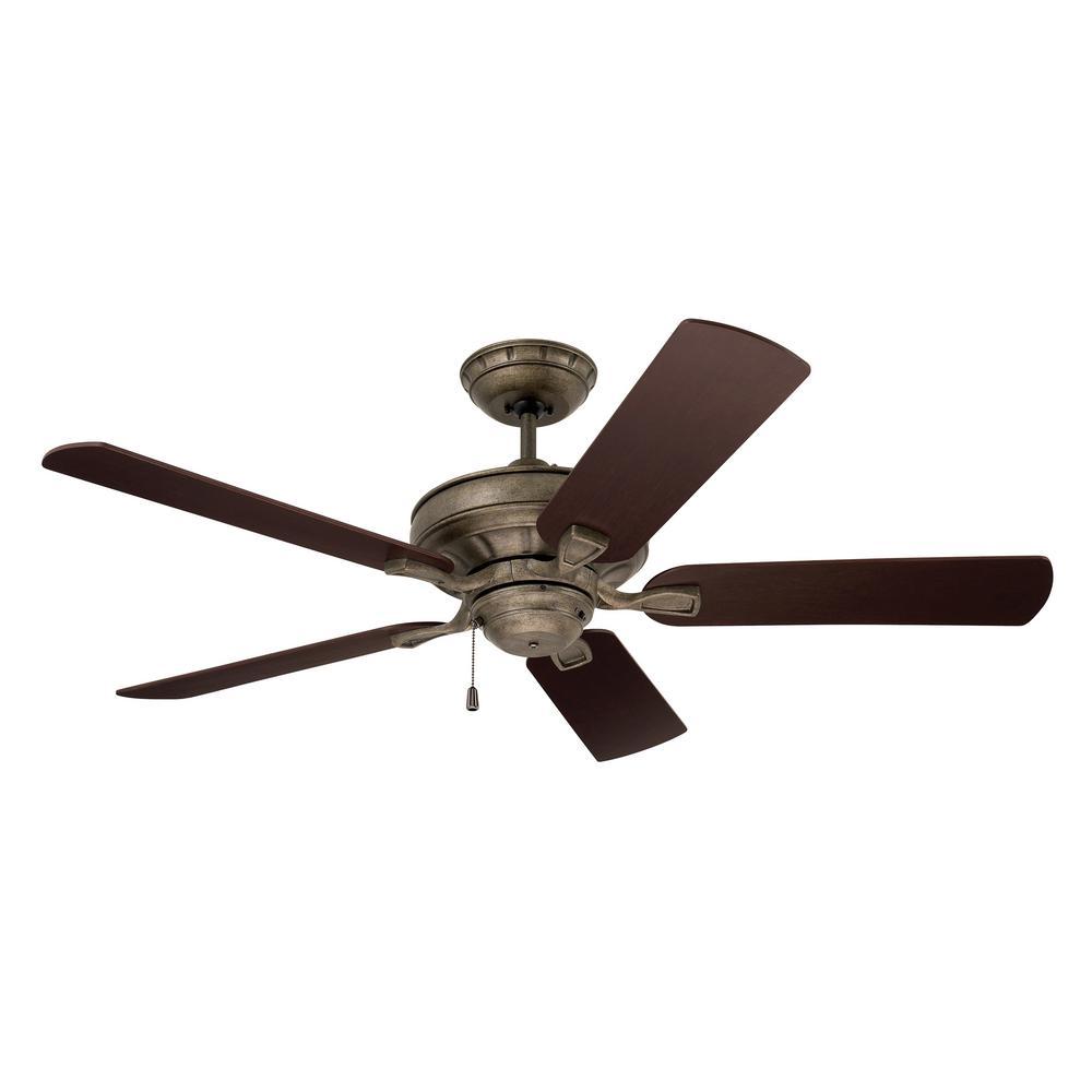 Bella 52 in. LED Vintage Steel Ceiling Fan