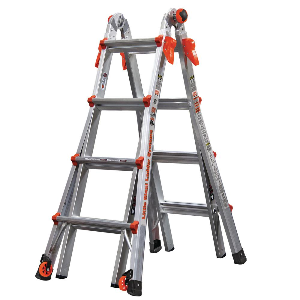 Little Giant Ladder Systems LT 17 ft. Aluminum Multi-Position Ladder with 300 lbs. Capacity Type IA
