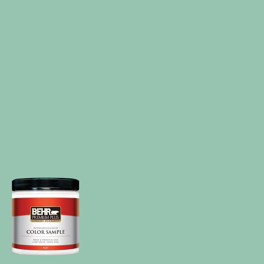 BEHR Premium Plus 8 oz. #M420-4 Jade Mountain Interior/Exterior Paint Sample
