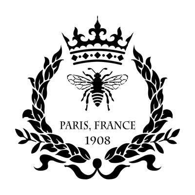 Paris Bee and Crown Wreath Stencil