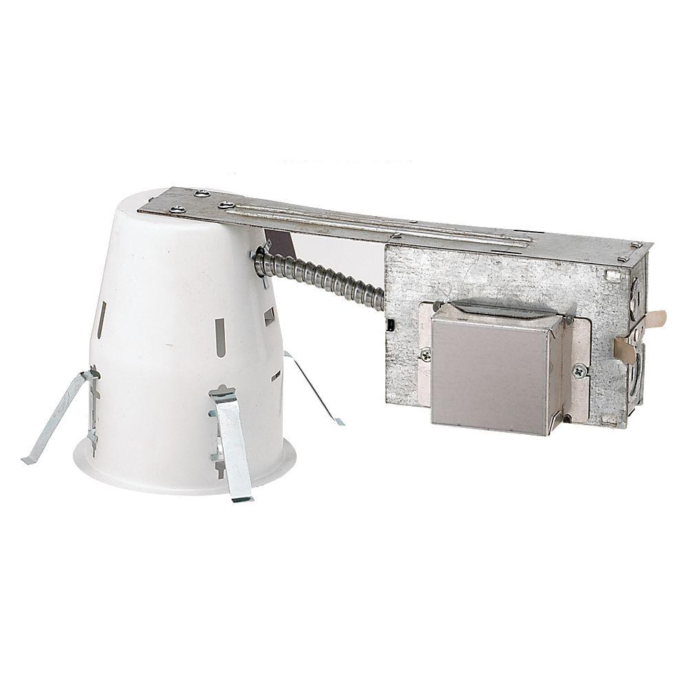null 4 in. Remodel HPF Vertical Compact Fluorescent Non-IC Metallic Recessed Housing