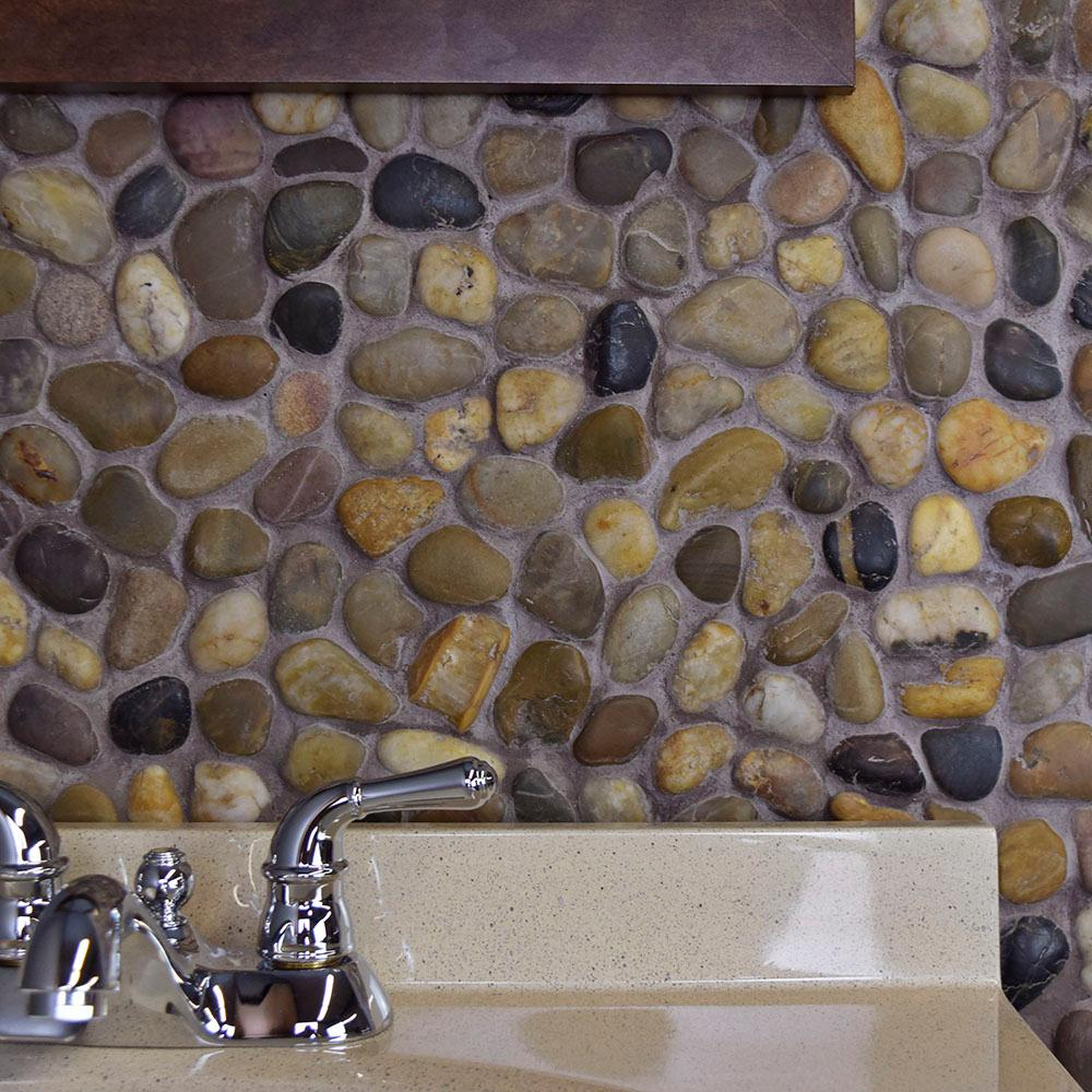 Merola Tile Riverstone Multi 11 3 4 In
