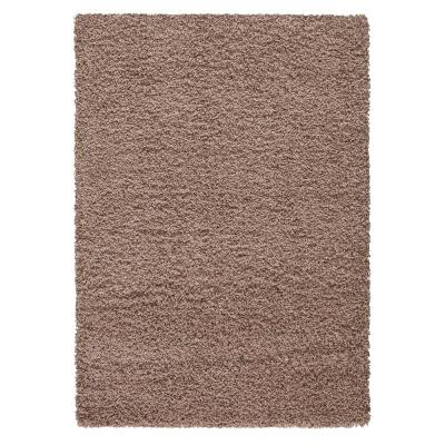 Contemporary Solid Beige 3 ft. x 5 ft. Shag Area Rug