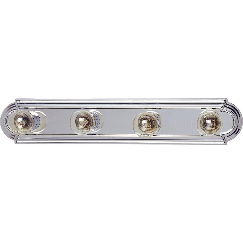 Essentials 4-Light Polished Chrome Bath Vanity Light