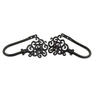 Tidal Decorative Holdback Pair in Black