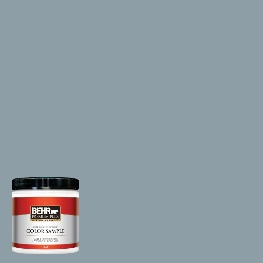 8 oz. #540F-4 Shale Gray Flat Interior/Exterior Paint and Primer in