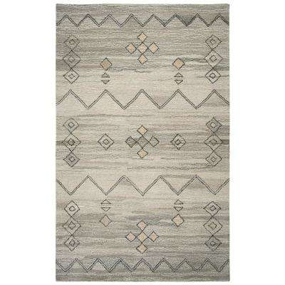 Suffolk Grey Abstract 8 ft. x 10 ft. Area Rug