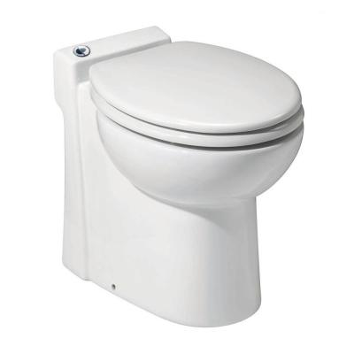 SaniCompact 1-Piece 1.28/1 GPF Dual Flush Elongated Toilet in White with Built-In 0.3 HP 115-Volt Macerator Pump