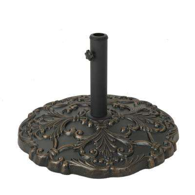 Clifton 68.3 lbs. Concrete Patio Umbrella Base in Hammered Dark Copper