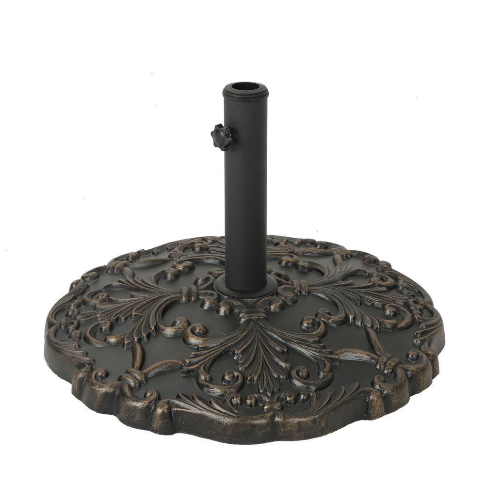Clifton 68.3 lbs. Concrete Patio Umbrella Base in Hammered Dark Copper