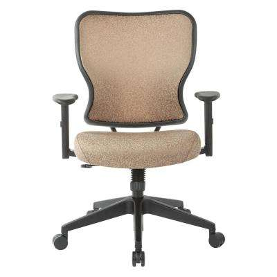 Deluxe 2 to 1 Sand Fabric Mechanical Height Adjustable Arms Chair