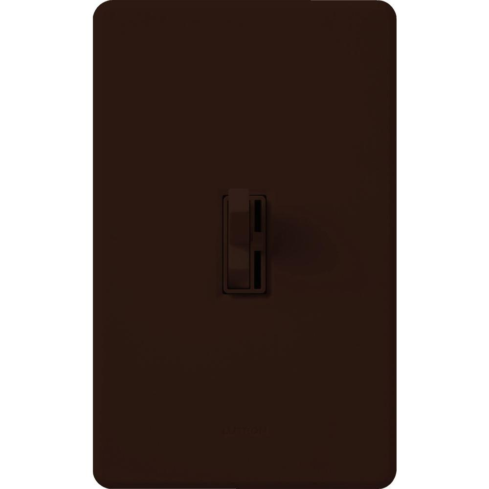 Lutron Toggler 150-Watt Single-Pole/3-Way CFL-LED Dimmer - Brown