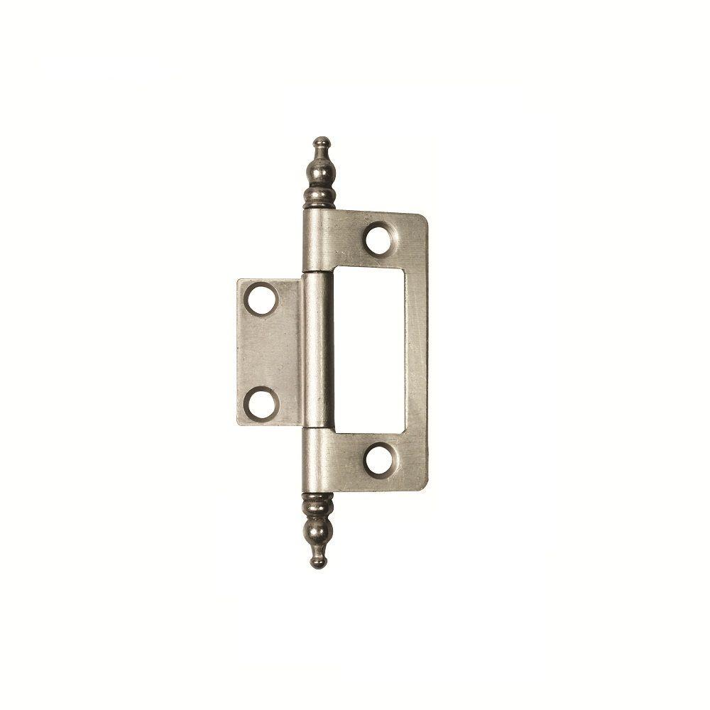 Hickory Hardware 2 in. x 1-5/8 in. Satin Nickel Furniture Barrel Hinge