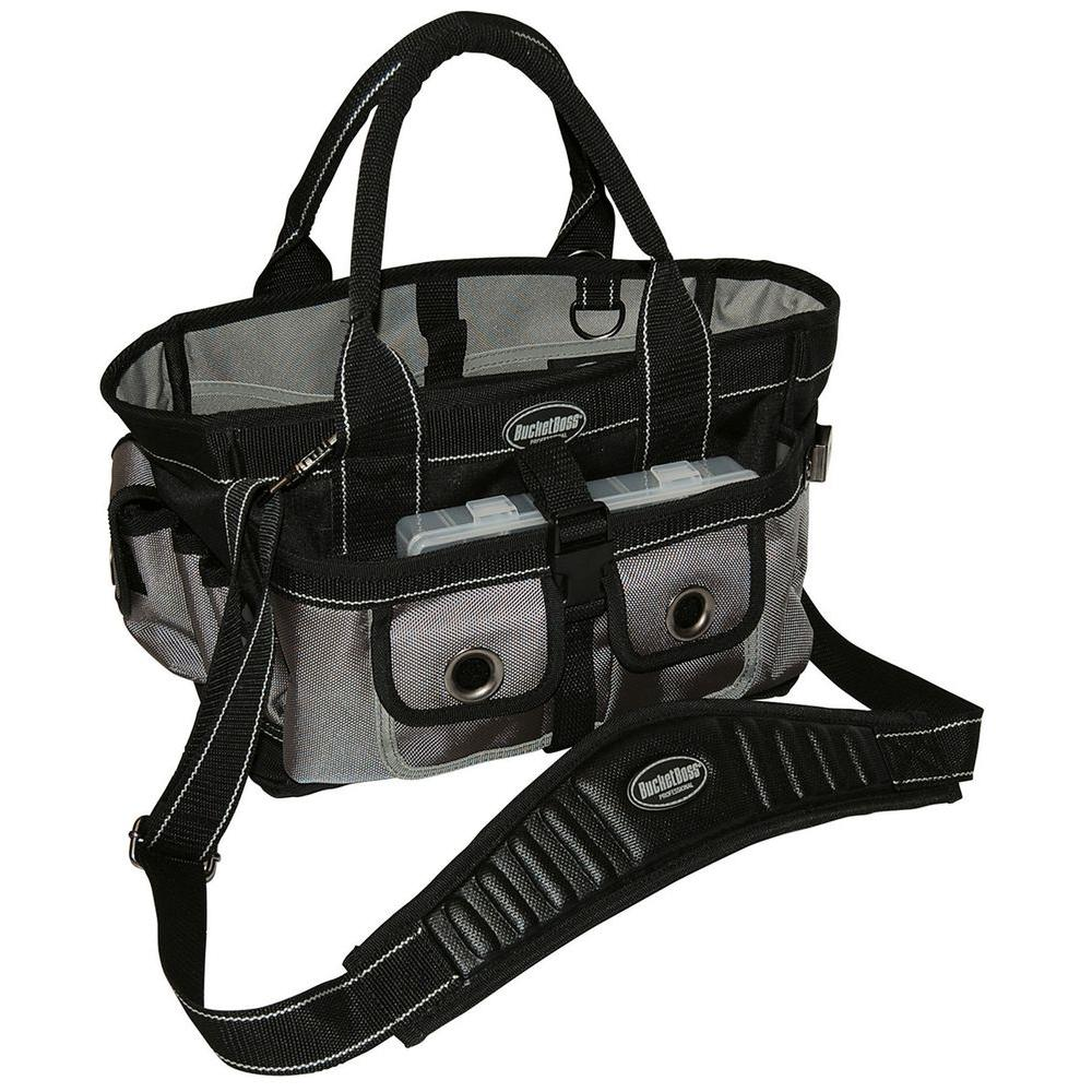 Bucket Boss Extreme Hopalong 14 in. Tool Tote, Gray And Black