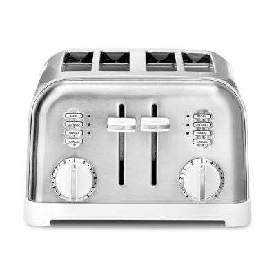 Classic Series 4-Slice White Wide Slot Toaster with Crumb Tray
