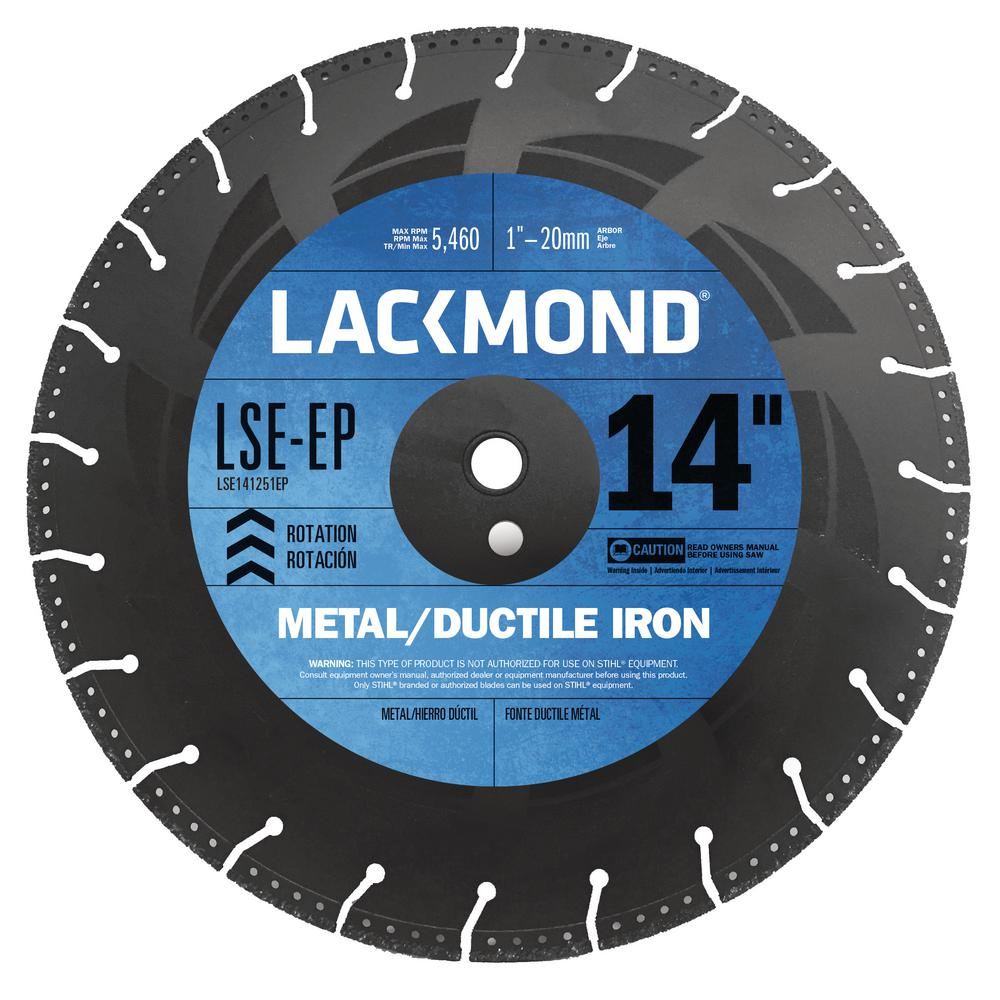 Lackmond 14 in. Steel Cutter Blade with Vacuum Brazed Dia...