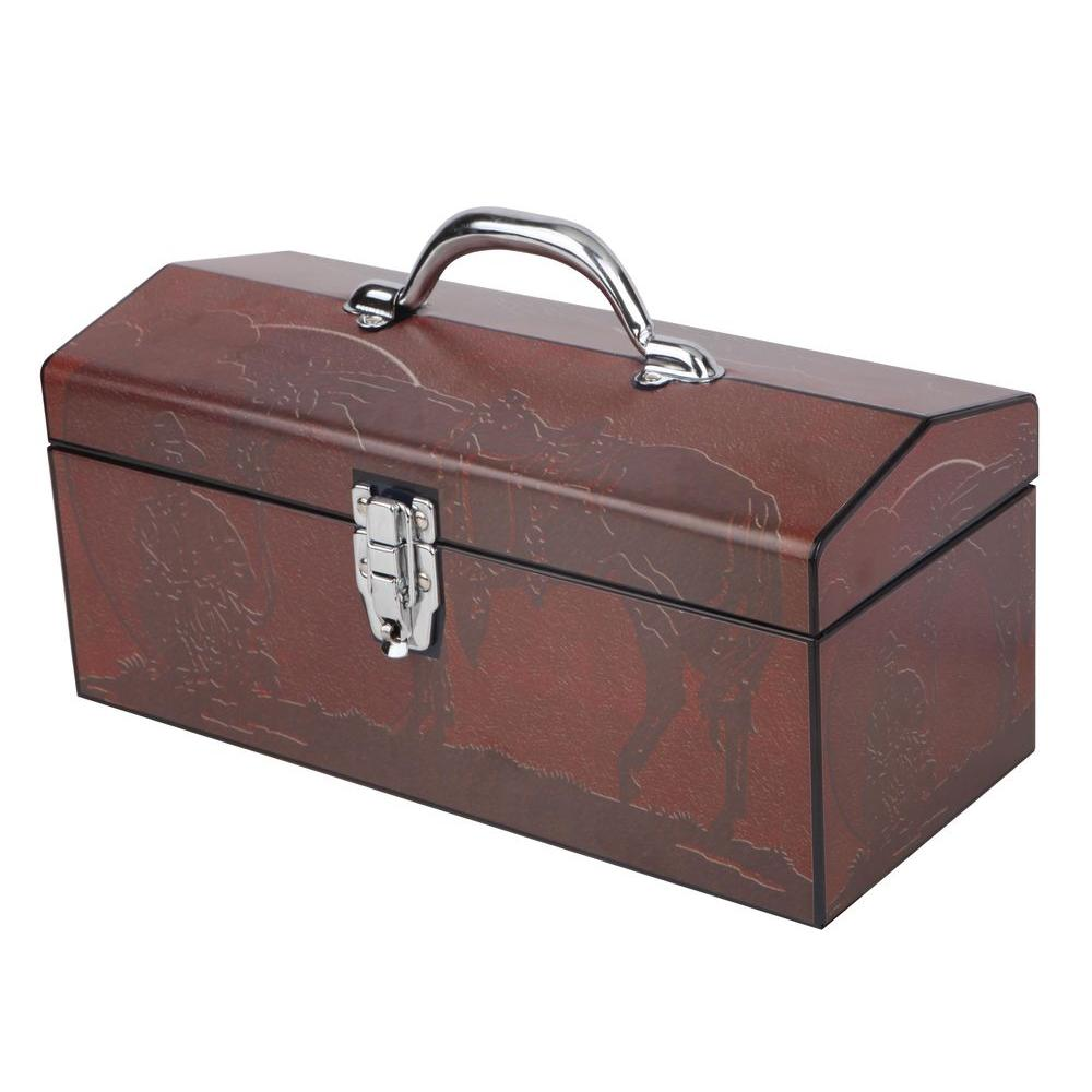 Sainty International 16 in. Western Cowboy Art Tool Box