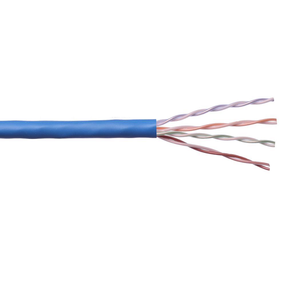 200Ft Cat5e Plenum Patch Cable Black-Bare Copper-by Cables4sure