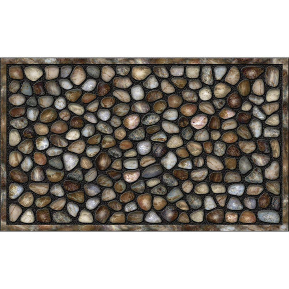 Apache Mills River Rocks 18 In X 30 Recycled Rubber Door Mat
