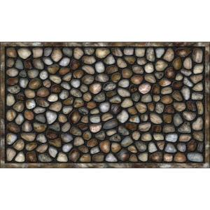 Apache Mills River Rocks 18 inch x 30 inch Recycled Rubber Door Mat by Apache Mills