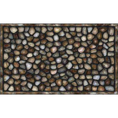 River Rocks 18 in. x 30 in. Recycled Rubber Door Mat