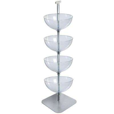 16 in. 4-Tier Bowl Floor Display