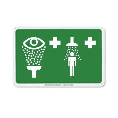 12 in. x 7.875 in. Green on White Aluminum Safety Sign