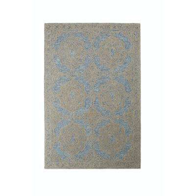 Galena Blue 2 ft. x 4 ft. Area Rug
