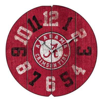 University of Alabama Vintage Round Clock