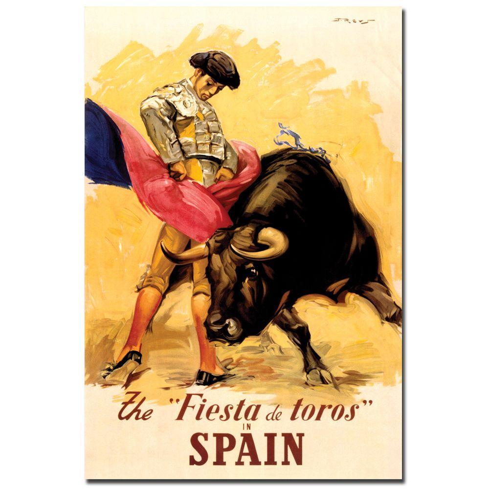 19 in. x 14 in. The Fiesta de Toros Spain Canvas Art
