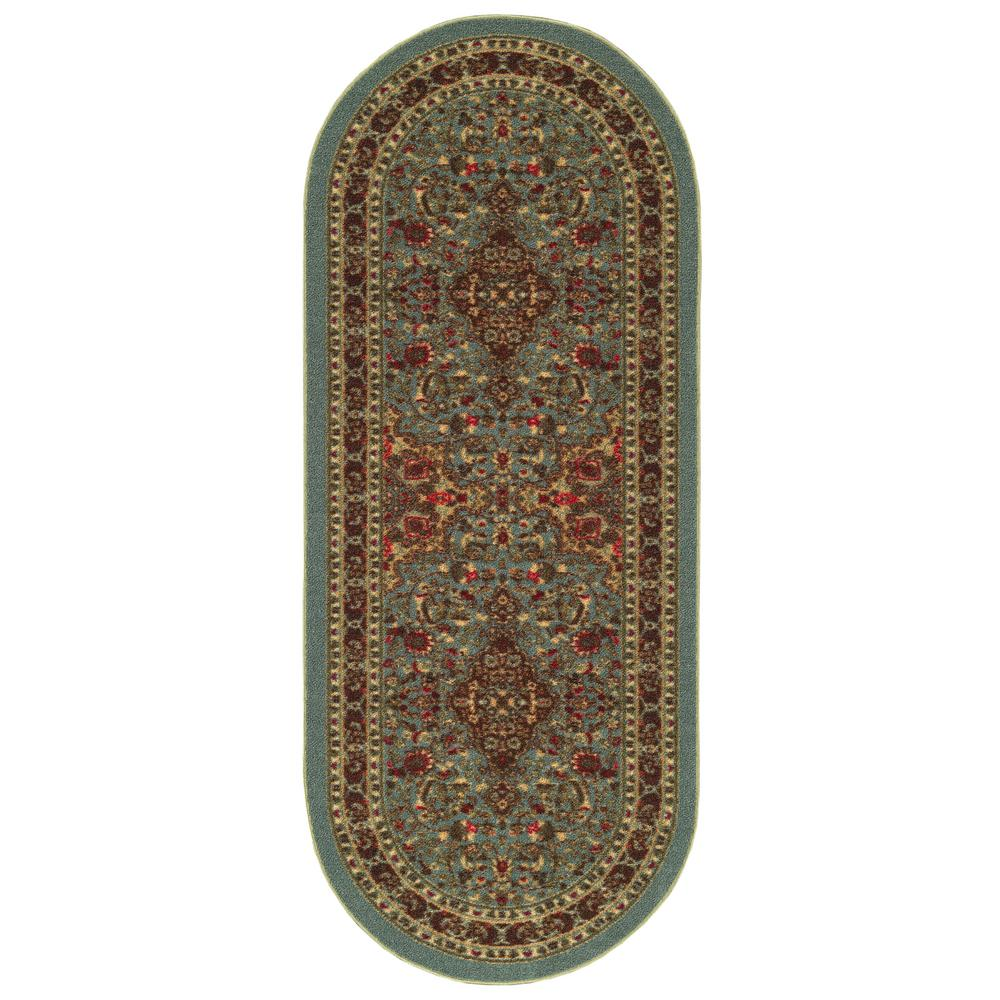 Ottomanson Ottohome Collection Seafoam Oriental Design 2 ft. x 5 ft. Oval Area Rug was $18.35 now $13.76 (25.0% off)